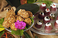 KEVIN BARTRAM/The Daily News.Grace Davis' creation Grape Balls of Fire is shown among other food she prepared using ingredients from her garden on Monday, February 23, 2004.