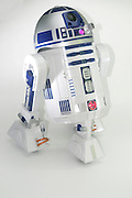 Star Wars R2-D2 robot on white background