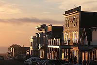 Mendocino Main street sunset