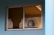 Che in office window, Ciego de Avila, Cuba.