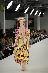 June 7, 2017 - London, UK - London, UK. A model presents a look during the Best Of catwalk on the final day of Graduate Fashion Week taking place at the Old Truman Brewery in East London.  The event showcases the graduation show of up and coming fashion designers from UK and international universities. (Credit Image: © Stephen Chung/London News Pictures via ZUMA Wire)