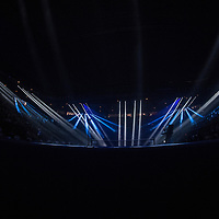 Light show ahead of the women's singles championship match during the 2018 Australian Open on day 13 in Melbourne, Australia on Saturday afternoon January 27, 2018.<br /> (Ben Solomon/Tennis Australia)
