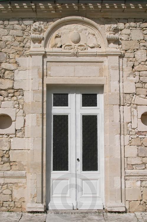 The entrance. Chateau Richelieu, Fronsac, Bordeaux, France