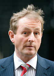 © Licensed to London News Pictures. 12/01/2012. London, UK. Enda Kenny The Taoiseach (Head of Irish government) speaking outside 10 Downing street on January 12th, 2012 after meeting British Prime Minister David Cameron. Photo credit : Ben Cawthra/LNP