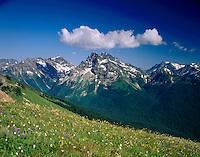 Fortress Mountain from Miners Ridge, Glacier Peak Wilderness Washington