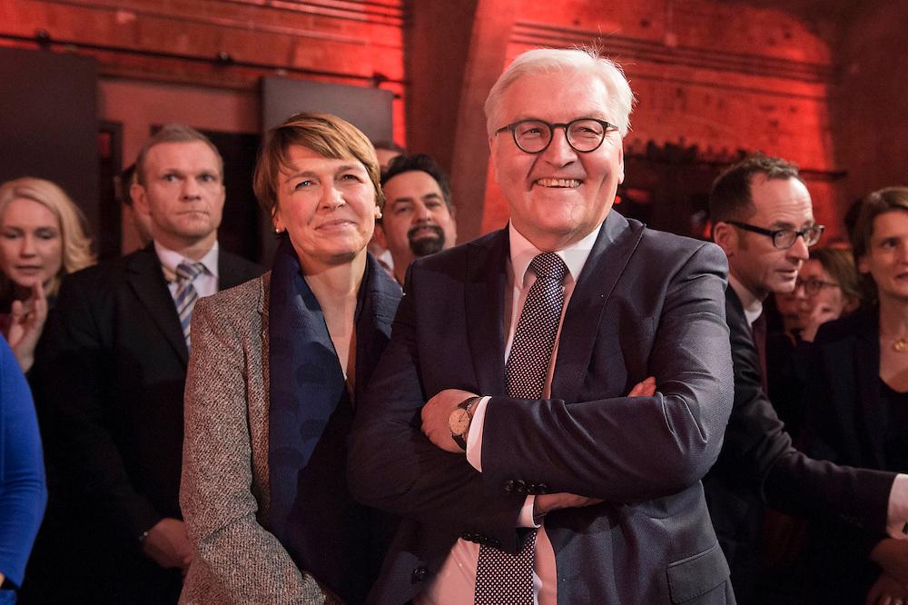 11 FEB 2017, BERLIN/GERMANY:<br /> Elke Buedenbender (L), Ehefrau von Steinmeier, Frank-Walter Steinmeier (R), SPD, Kandidat fuer das Amt des Bundespraesidenten, waehrend einem Empfang der SPD anl. der Bundesversammlung, Westhafen Event und Convention Center<br />  IMAGE: 20170211-03-019<br /> KEYWORDS: Elke Büdenbender