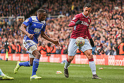 March 10, 2019 - Birmingham, England, United Kingdom - Anwar El Ghazi of Aston Villa takes on Wes Harding of Birmingham City  during the Sky Bet Championship match between Birmingham City and Aston Villa at St Andrews, Birmingham on Sunday 10th March 2019. (Credit Image: © Mi News/NurPhoto via ZUMA Press)