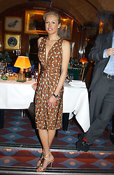 LADY ALEXANDRA SPENCER-CHURCHILL at a private dinner and presentation of Issa's Autumn-Winter 2005-2006 collection held at Annabel's, 44 Berkeley Square, London on 15th March 2005.<br />