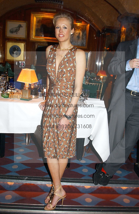 LADY ALEXANDRA SPENCER-CHURCHILL at a private dinner and presentation of Issa's Autumn-Winter 2005-2006 collection held at Annabel's, 44 Berkeley Square, London on 15th March 2005.<br /><br />NON EXCLUSIVE - WORLD RIGHTS