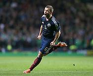 Shaun Maloney of Scotland celebrates scoring the first goal  - UEFA Euro 2016 Qualifier - Scotland vs Republic of Ireland - Celtic Park Stadium - Glasgow - Scotland - 14th November 2014  - Picture Simon Bellis/Sportimage