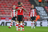 Football - 2019 / 2020 Premier League - Southampton vs. Burnley<br /> <br /> Southampton's Shane Long celebrates with Southampton's Danny Ings after Ings put Saints level at St Mary's Stadium Southampton<br /> <br /> COLORSPORT/SHAUN BOGGUST