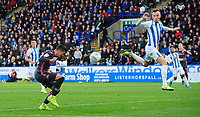 Leeds United's Pablo Hernandez scores his side's second goal <br /> <br /> Photographer Chris Vaughan - CameraSport<br /> <br /> The EFL Sky Bet Championship - Huddersfield Town v Leeds United - Saturday 7th December 2019 - John Smith's Stadium - Huddersfield<br /> <br /> World Copyright © 2019 CameraSport. All rights reserved. 43 Linden Ave. Countesthorpe. Leicester. England. LE8 5PG - Tel: +44 (0) 116 277 4147 - admin@camerasport.com - www.camerasport.com