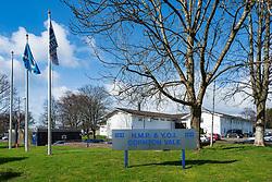 Exterior view of HMP & YOI Cornton Vale prison in Stirling, Scotland, UK