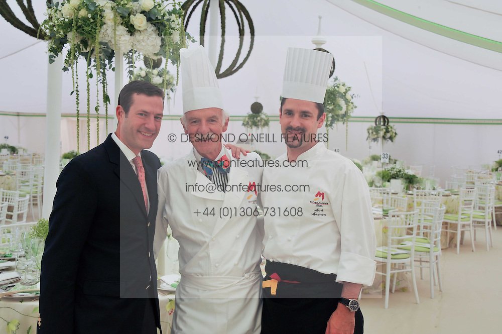 Left to right, PHILIP MOSIMANN, ANTON MOSIMANN and MARK  MOSIMAN at the 27th annual Cartier International Polo Day featuring the 100th Coronation Cup between England and Brazil held at Guards Polo Club, Windsor Great Park, Berkshire on 24th July 2011.