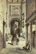 Puerta del Perdón, a la Cathédrale de Séville [Door (or Gate) of Forgiveness, to the Cathedral of Seville] Page illustration from the book 'L'Espagne' [Spain] by Davillier, Jean Charles, barón, 1823-1883; Doré, Gustave, 1832-1883; Published in Paris, France by Libreria Hachette, in 1874