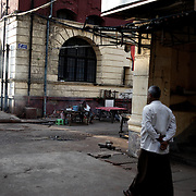 May 09, 2013 - Yangon, Myanmar: Street scene in central Yangon in the early hours of the day. (Paulo Nunes dos Santos/Polaris)