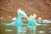 Melting Iceberg. Photographed in Spitsbergen, Svalbard, Norway