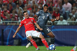 September 19, 2018 - Lisbon, Portugal - Benfica's Argentine forward Franco Cervi (L) vies with Bayern Munich's forward Serge Gnabry from Germany during the UEFA Champions League Group E football match SL Benfica vs Bayern Munich at the Luz stadium in Lisbon, Portugal on September 19, 2018. (Credit Image: © Pedro Fiuza/NurPhoto/ZUMA Press)