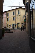 """Luino, Lombardia. ITALY.   """"Luino Old Town"""" the steep hilly narrow streets,  on the side of Lake Maggiore, Province of Varese.. ITALY <br /> <br /> <br /> Monday  02/01/2017  <br /> <br /> © Peter SPURRIER,<br /> <br /> <br /> LEICA CAMERA AG LEICA Q (Typ 116). ISO 100  f1.7  28mm"""
