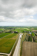 Nederland, Zuid-Holland, Polder de Noordplas , 08-09-2006;  ; Boortunnel onder het Groene Hart, tunnel ingang - direkt ten Zuiden van Hazerswoude-dorp; .Zie ook andere foto's van deze lokatie (lucht en panorama); deel van de serie Panorama Nederland..Entrance of drilled tunnel right under the Green Heart of the Netherlands south of Hazerswoude..Other aerial and panorama photos available, part of the series Panorama Nederland (major infrastucture photo project).luchtfoto (toeslag); aerial photo (additional fee required); .foto Siebe Swart / photo Siebe Swart