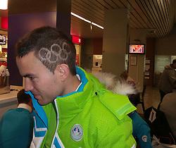 Jernej Damjan, ski jumper of Slovenia in Sochi, Russia, on February 4, 2014.