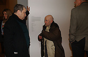 Norman Rosenthall and Gustav Metzger. Triennial 2006 Tate Britain,  Millbank. London. 28 February 2006.  ONE TIME USE ONLY - DO NOT ARCHIVE  © Copyright Photograph by Dafydd Jones 66 Stockwell Park Rd. London SW9 0DA Tel 020 7733 0108 www.dafjones.com