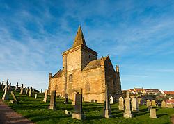 St Monans Parish church in  St Monans on East Neuk of Fife in Scotland, United Kingdom