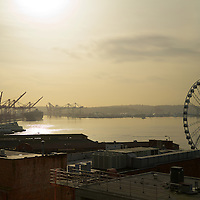 Seattle standard cloud cover in effect still can't stop a brilliant sun-lit day at waterfront!