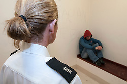 Defendant in the cells in Southampton Crown Court
