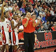 Elyria Catholic at Elyria boys varsity basketball on January 21, 2012.