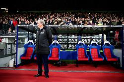 Crystal Palace manager Roy Hodgson in the dugout during the Premier League match at Selhurst Park, London.