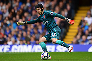 Petr Cech , the goalkeeper of Arsenal in action. Premier league match, Chelsea v Arsenal at Stamford Bridge in London on Sunday 17th September 2017.<br /> pic by Andrew Orchard sports photography.
