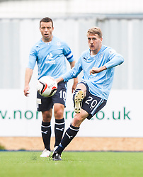 Dundee's James McAllister.<br /> Falkirk 3 v 1 Dundee, 21/9/2013.<br /> ©Michael Schofield.