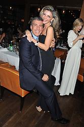 STEVE VORSARI and LISA TCHENGUIZ at a dinner hosted by de Grisogono at 17 Berkeley Street, London on 12th November 2012.