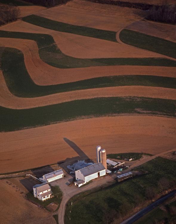 Aerial Farm and Farmland Contours, Lancaster Co., PA