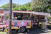 Fruit stand, Kahakuloa, Maui, Hawaii (editorial use only)<br />