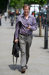© Licensed to London News Pictures. 08/06/2016. London, UK.  Director of Communications and Strategy for prime minister Tony Blair ALASTAIR CAMPBELL in Westminster, London on June 8th, 2016. Photo credit: Ben Cawthra/LNP