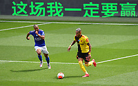 Football - 2019 / 2020 Premier League - Watford vs. Leicester City<br /> <br /> Watford's Roberto Pereyra holds off the challenge from Leicester City's Youri Tielemans, at Vicarage Road.<br /> <br /> COLORSPORT/ASHLEY WESTERN