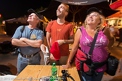 Jonathan Pite, Sean Lichter and Melissa Shoemaker at the 75th Annual Sturgis Black Hills Motorcycle Rally.  SD, USA.  August 1, 2015.  Photography ©2015 Michael Lichter.