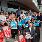 31.05.2018.          <br /> Limerick and Clare Education Training Board launch Youth Work Plan 2018-2021 at Thomond Park Limerick with Pat Breen TD, Minister of State with special responsibility for Trade, Employment, Business, EU Digital Single Market and Data Protection, Clare. <br /> <br /> Pictured at the event were NQSF Certificate recipients with Cllr. Kieran O'Hanlon. Picture: Alan Place