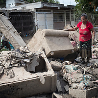 People sort through heaps of destroyed furniture in La Planeta, San Pedro Sula, Honduras.<br /> <br /> Hurricanes Eta and Iota hit hard on the north coast of Honduras, leaving some areas flooded for three weeks, destroying people's furniture, belongings, vehicles and houses as well as standing crops.g crops.