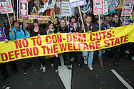 Demonstration against the Government's Comprehensive spending review