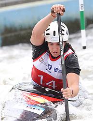 July 1, 2018 - Krakow, Poland - 2018 ICF Canoe Slalom World Cup 2 in Krakow. Day 2. On the picture: MIREN LAZKANO (Credit Image: © Damian Klamka via ZUMA Wire)