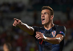 September 11, 2018 - Elche, U.S. - ELCHE, SPAIN - SEPTEMBER 11: Ivan Santini ,forward of Croatia looks during the UEFA Nations League A Group four match between Spain and Croatia on September 11, 2018, at Estadio Manuel Martinez Valero in Elche, Spain. (Photo by Carlos Sanchez Martinez/Icon Sportswire) (Credit Image: © Carlos Sanchez Martinez/Icon SMI via ZUMA Press)