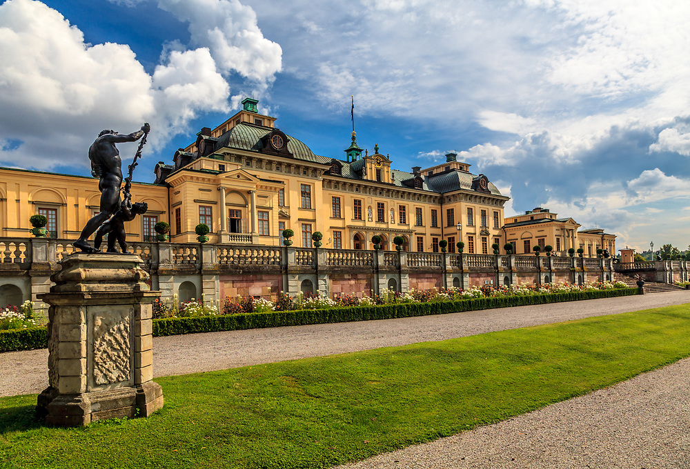 The Drottningholm Palace in Sweden. While being the private permanent residence of the Swedish royal family, The Drottningholm Palace is partly open to visitors.