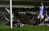 Photo: Steve Bond.<br />Birmingham City v Sunderland. The FA Barclays Premiership. 15/08/2007. Colin Doyle holds a low shot