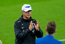 CARDIFF, WALES - Tuesday, November 17, 2020: Finland's head coach Markku Kanerva speaks with his players before a training session at the Cardiff City Stadium ahead of the UEFA Nations League Group Stage League B Group 4 match between Wales and Finland. (Pic by David Rawcliffe/Propaganda)