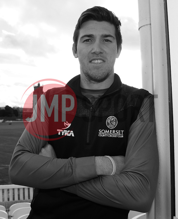 Somerset's Jamie Overton poses for a picture.  - Mandatory byline: Alex Davidson/JMP - 11/02/2016 - CRICKET - The Cooper Associates County Ground -Taunton,England - Somerset CCC  Media access - Pre-Season