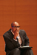 May 19, 2012 -New York, NY-United States:  Author/Writer Kevin Powell attends the Question Bridge: Black Male Blue Print Round Table moderated by Dr. Khalil Gibran Muhammad and hosted by Kevin Powell and held at the Iris and B.Gerald Cantor Auditorium in the Brooklyn Museum on May 19, 2012 in Brooklyn, New York. Question Bridge: Black Males is a transmedia art project that seeks to represent and redefine Black male identity in America. Question Bridge: Black Males was created by Chris Johnson and Hank Willis Thomas in collaboration with Bayeté Ross Smith and Kamal Sinclair. The Executive Producers are Delroy Lindo, Deborah Willis and Jesse Williams. (Photo by Terrence Jennings)