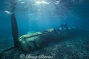 World War ll Japanese Zero fighter plane wrecked in lagoon, Palau or Belau, Micronesia, ( Western Pacific Ocean ) Western Caroline Islands